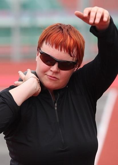Участник Паралимпиады в Лондоне, чемпионка Европы в толкании ядра Прокофьева Марта Николаевна