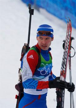 Двукратный олимпийский чемпион по биатлону Устюгов Евгений Романович