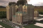 3-комнатная квартира площадью 95,86 кв.м.