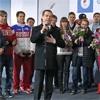 Медведев подарил автомобили красноярским олимпийцам