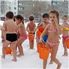 Из-за мороза красноярские детсадовцы— «моржи» приостановили обливания