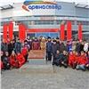 В Красноярске заложили первый камень Аллеи олимпийской славы