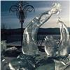 Причиной демонтажа снежных скульптур накрасноярской набережной назвали аномальное тепло