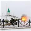 Накрасноярской Караульной горе установили новую пушку