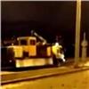 Увъезда накрасноярский четвертый мост произошел дорожный конфликт (видео)