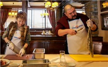 Фоторепортаж: как готовить строганину, сагудай исаламат