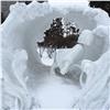Вцентре Красноярска демонтировали несколько снежно-ледовых фигур (видео)