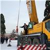 ВКрасноярске начали разбирать главную новогоднюю елку