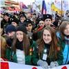 Более 10тысяч красноярцев вышли намитинг вчесть годовщины воссоединения Крыма сРФ