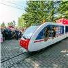 ВКрасноярске запустили уменьшенную копию поезда «Сапсан»