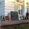 Изгорящего железногорского музея эвакуировали картины
