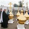 ВКрасноярске освятили купола для храма вГвардейском парке