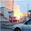 Вцентре Красноярска сгорели частные постройки (видео)