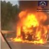 Натрассе вКрасноярском крае сгорел грузовик (видео)