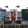 Заброшенную витрину вцентре Красноярска облагородили уличным искусством