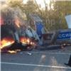 Натрассе вКрасноярском крае сгорела врезавшаяся востановку Toyota, погиб водитель