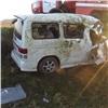 ВХакасии перевернулся врезавшийся влошадь микроавтобус, есть пострадавшие