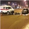 Наулице Шахтеров вКрасноярске Honda въехала вскорую помощь (видео)