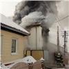 Вкрасноярской Покровке сгорел двухэтажный дом