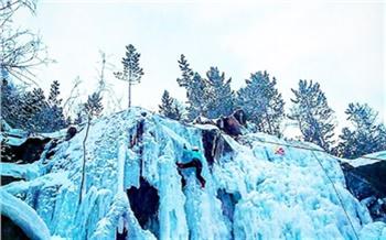 Репортаж изсоцсетей: Ледяной водопад на«Столбах»