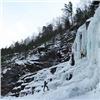 Уледяного водопада на«Столбах» оборудовали смотровую площадку