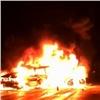 Натрассе М-53 после ДТП огонь охватил два автомобиля, есть погибшие (видео)
