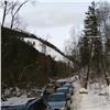 Восточный вход накрасноярские «Столбы» встал в пробках