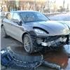 Вцентре Красноярска разбили только что купленный Porsсhe
