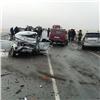 Втумане натрассе Красноярск— Абакан столкнулись 5машин: три человека погибли