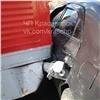 Трамвай разорвал бок выехавшей перед ним иномарки