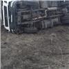 «Гонщик подрезал»: грузовик спеском слетел страссы под Красноярском