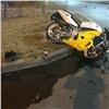 Мотоциклист разбился оповорачивающую иномарку наВзлетке
