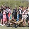 Школьники представили наТатышеве сцены изжизни Красноярска военных лет