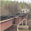 Спаленный пожарами мост навостоке края начали восстанавливать