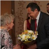 Мэр поздравил красноярского ветерана с90-летним юбилеем