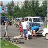 Нарушительница навелосипеде угодила под колеса иномарки