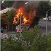 Изгорящего вцентре города дома пожарные вынесли газовый баллон (видео)