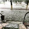 Гроза обрушила купол над стадионом в Туве (видео)