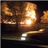 В Красноярске сгорело заброшенное здание в переулке Телевизорный (видео)