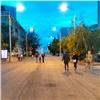 Красноярцы устроили пешеходную зону напроезжей части проспекта Мира