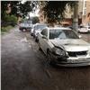 ВКрасноярске неизвестные оставили предупреждения владельцам автомобилей
