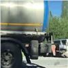 «Подтолкнула немножко»: вКозульском районе фура разбила три автомобиля (видео)