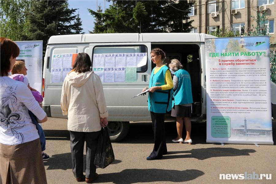 центр занятости населения красноярск вакансии свердловский район