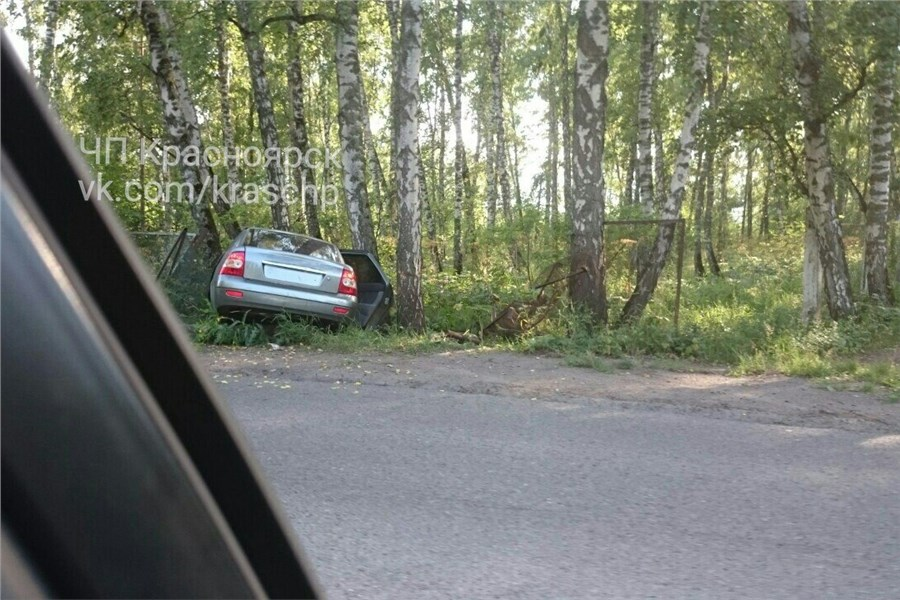 «Приора» без номеров въехала вдерево: шофёр умер