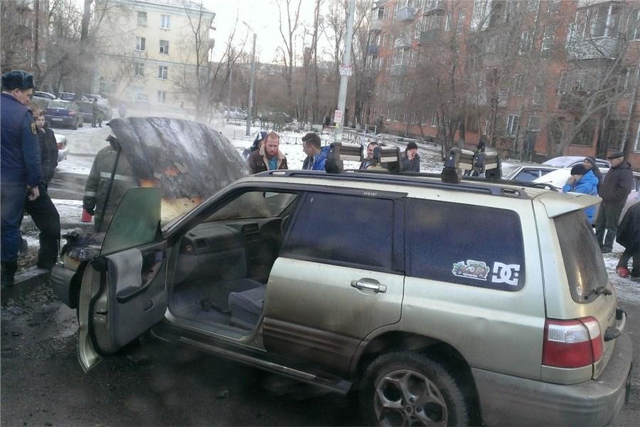 ВКрасноярске подожгли дорогостоящий автомобиль «Ягуар»