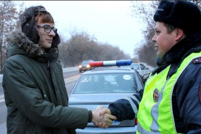 Гражданин Красноярска помог милиции задержать нетрезвого водителя