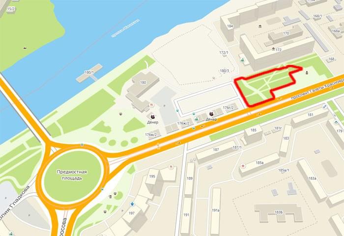 Красноярский суд позволил строительство развлекательного комплекса рядом сПредмостной площадью