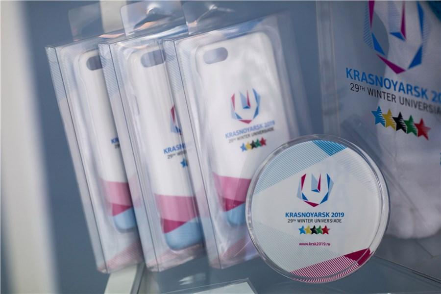 ВКрасноярске начали торговать сувенирную продукцию ссимволикой Универсиады
