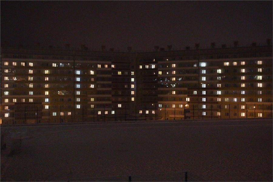 Слово РФ вышиной в 4 этажа зажгли вВологде