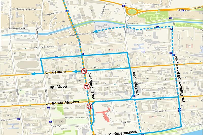 В двух районах Красноярска изменят схему движения транспорта.